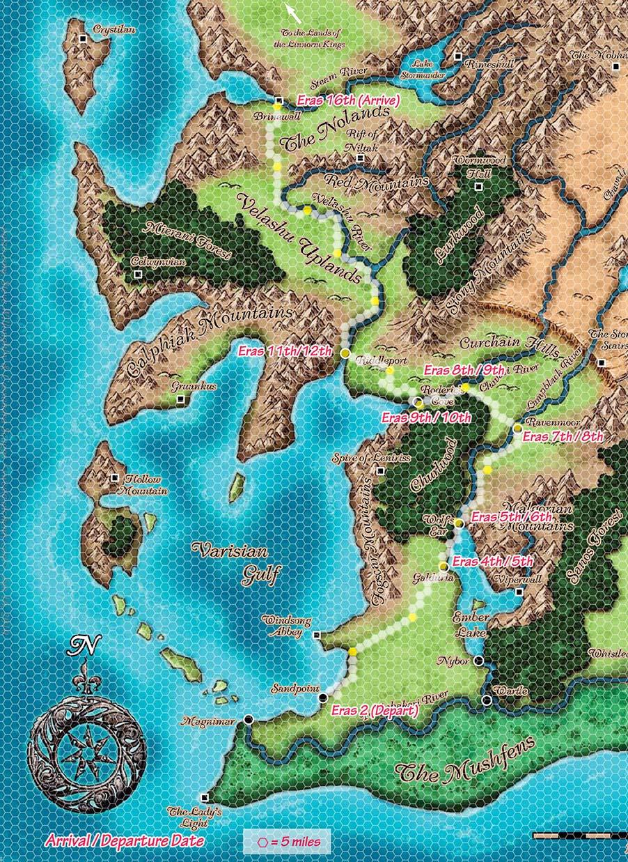 Map Segment   Sandpoint To Brinewall
