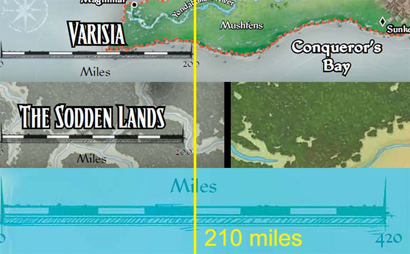 In The First Image, I Have Overlaid The Regional Maps For Varisia And The  Sodden Lands On The Inner Sea Map, Scaling Them In Photoshop To Line Up.