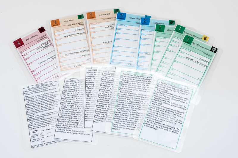 Spell card generator for pre-cut Avery business card sheets